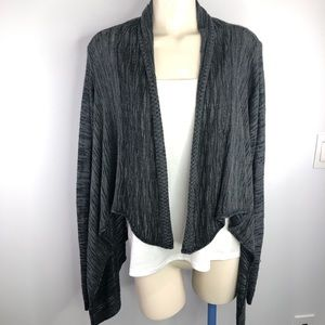 🌟Charlotte Russe/grey/open front shrug sweater L